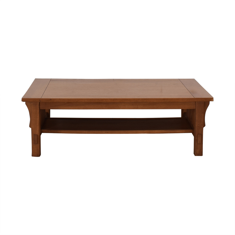 shop Scott Jordon Mission Style Wood Coffee Table Scott Jordon Tables