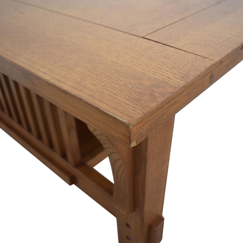 Scott Jordon Scott Jordon Mission Style Wood Coffee Table for sale