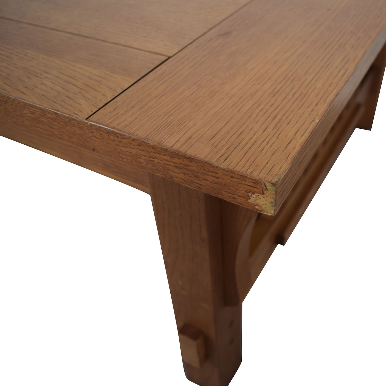 Scott Jordon Scott Jordon Mission Style Wood Coffee Table nyc