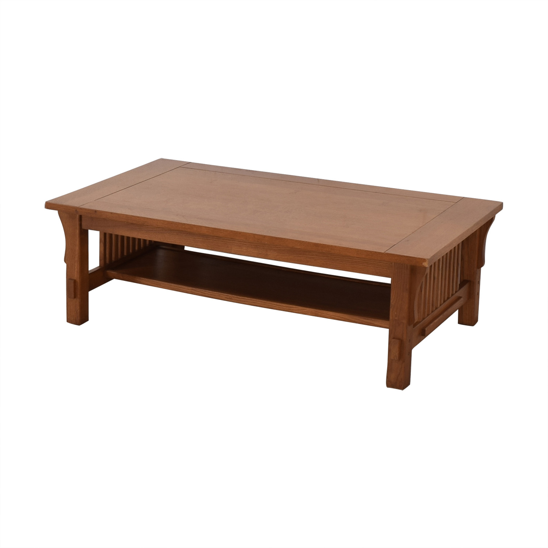 Scott Jordon Scott Jordon Mission Style Wood Coffee Table Coffee Tables