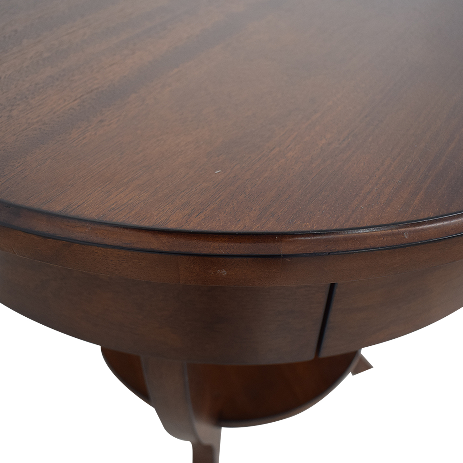 Pottery Barn Pottery Barn Carrie Round Single-Drawer Pedestal End Tables brown