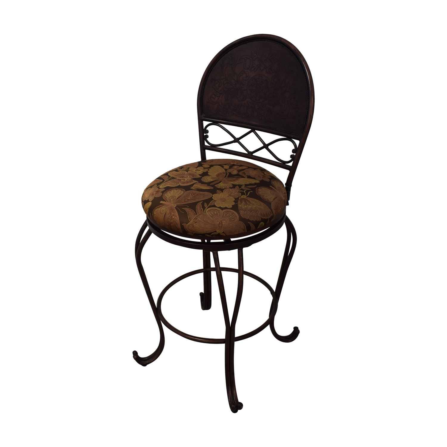 Wood and Metal Bistro Pub Table and Stools sale