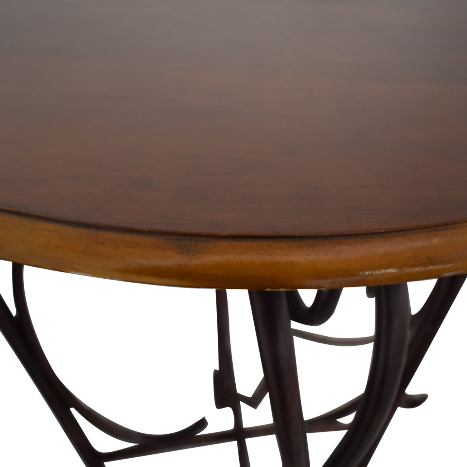 Wood and Metal Bistro Pub Table and Stools Dining Sets