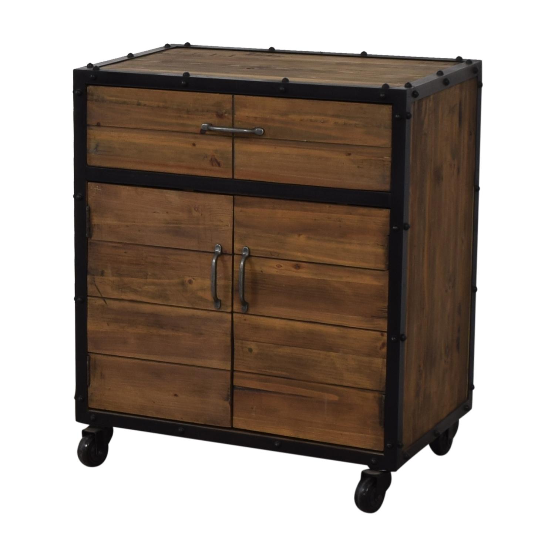buy  Rustic Single Drawer Wine Cabinet online