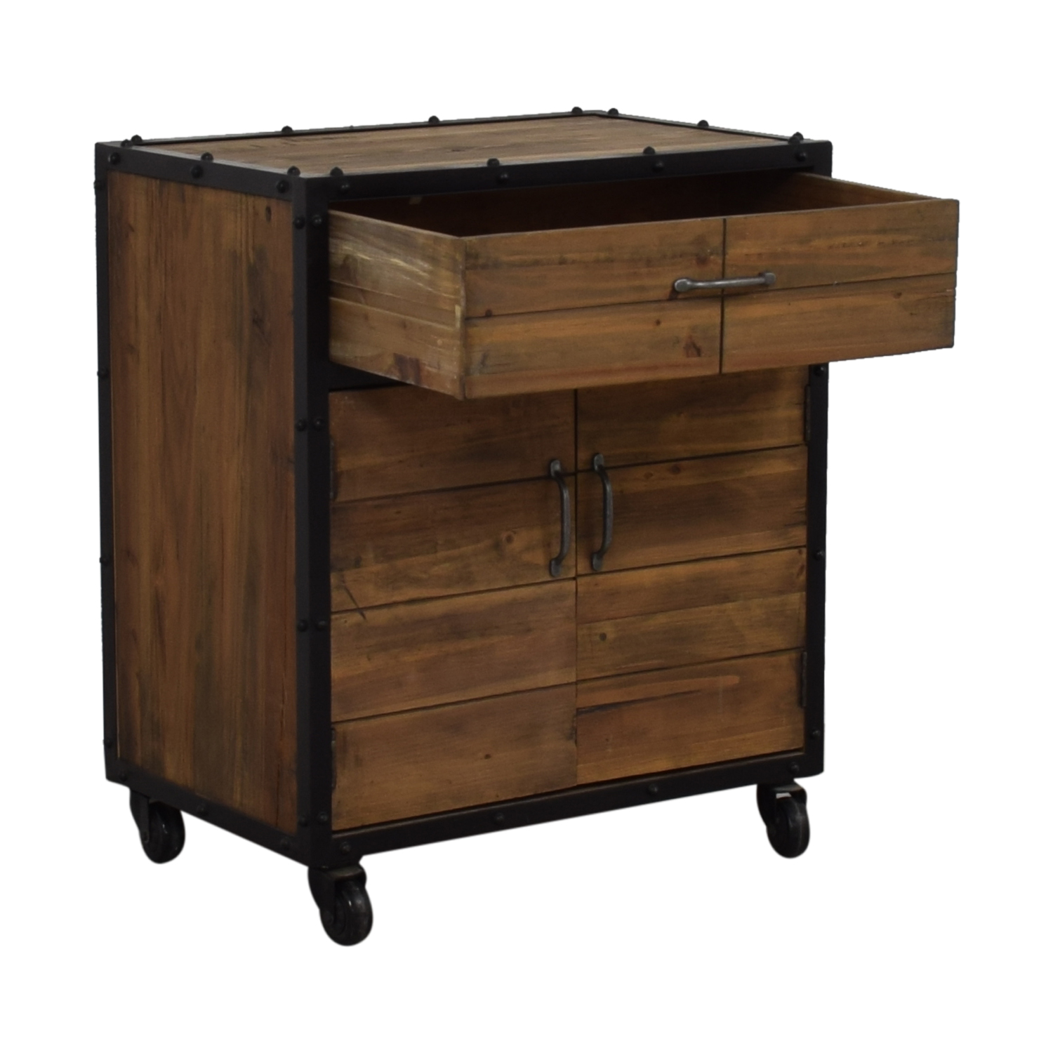 Rustic Single Drawer Wine Cabinet dimensions
