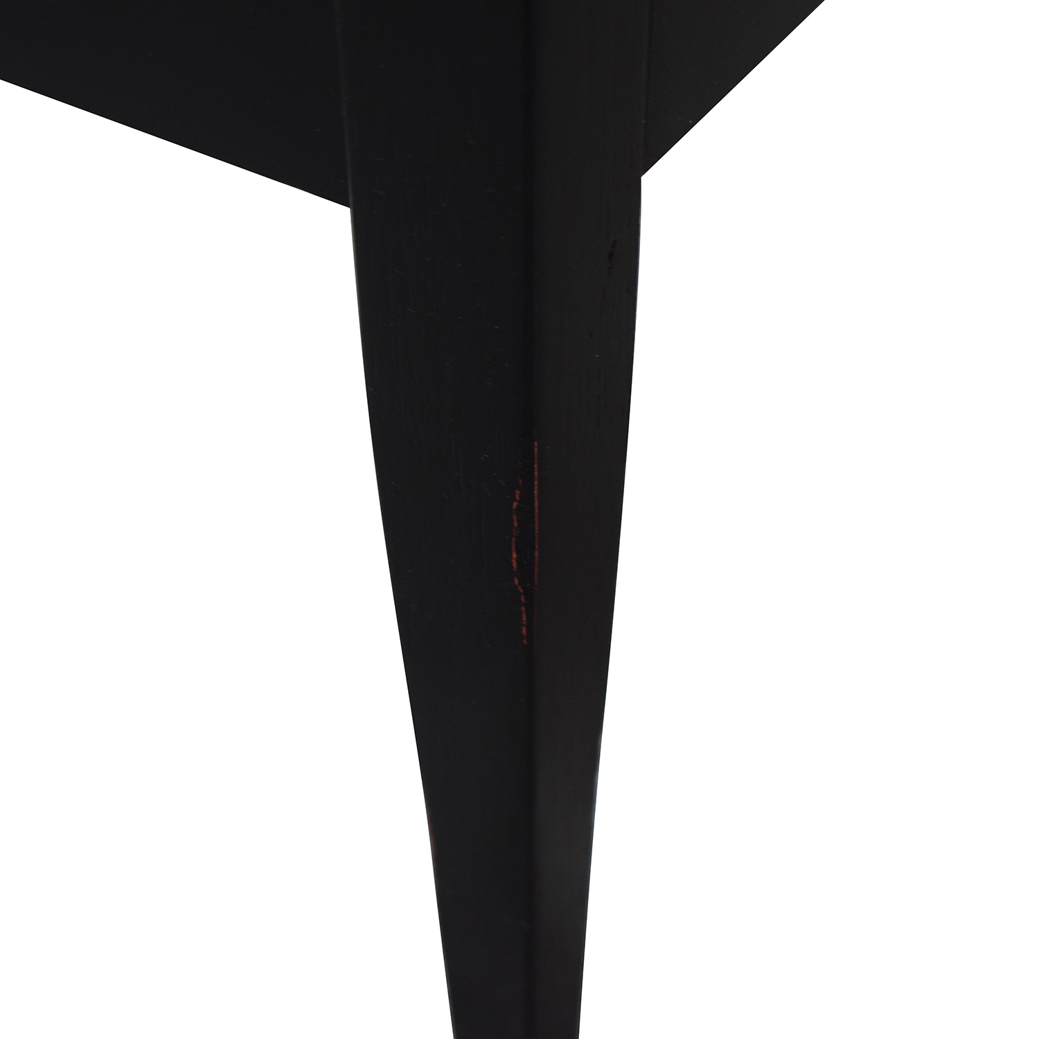 Black Two-Drawer End Table second hand