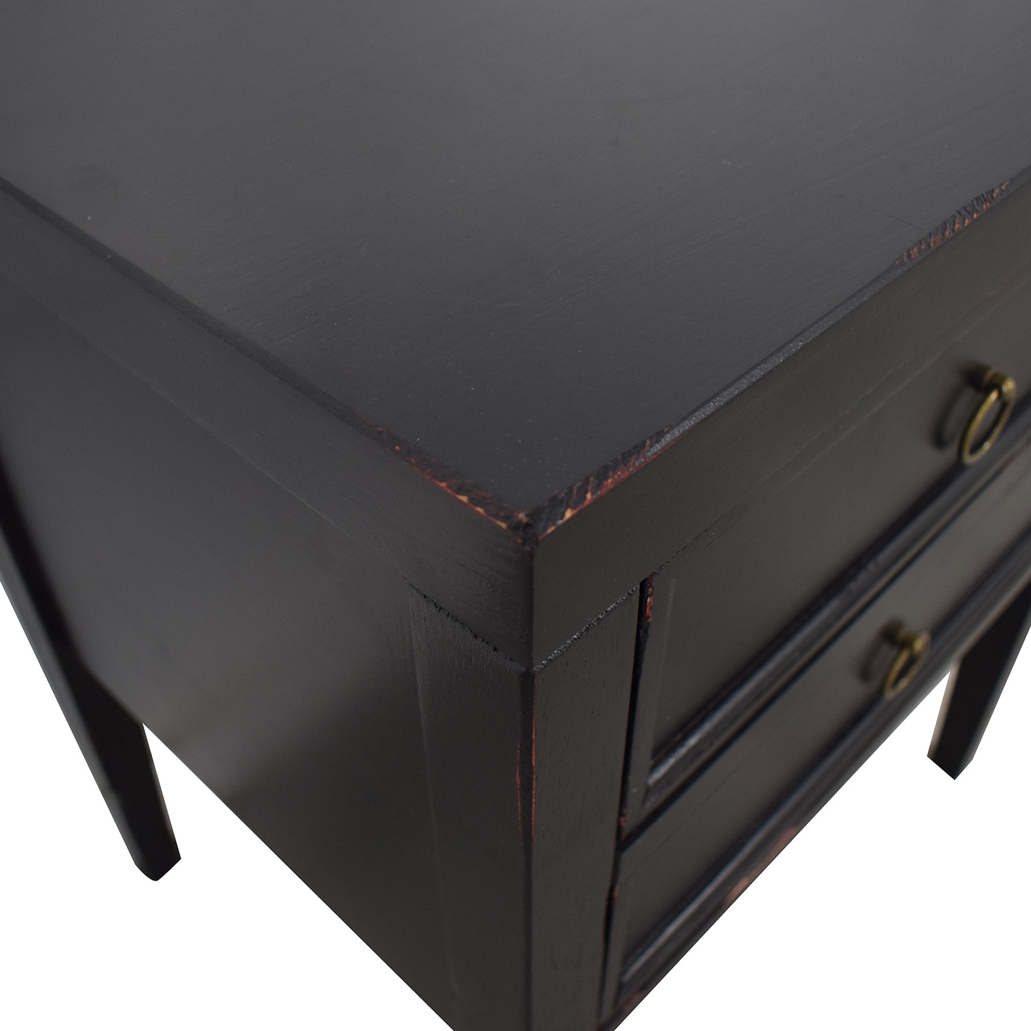 shop Black Two-Drawer End Table