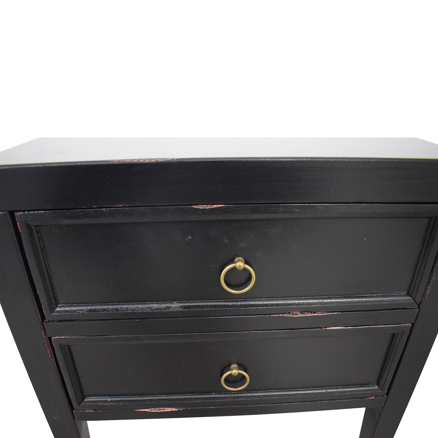 buy Black Two-Drawer End Table  End Tables