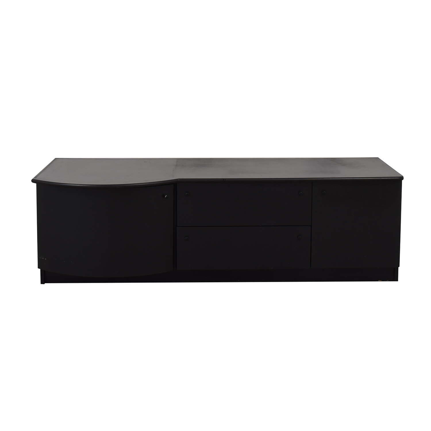 buy Leadra Design Black Two-Drawer Media Cabinet Leadra Design Media Units