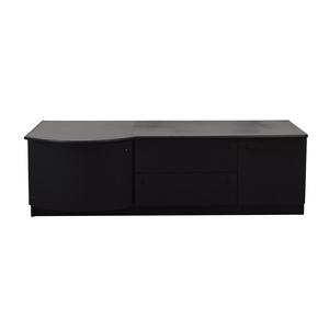 Leadra Design Leadra Design Black Two-Drawer Media Cabinet on sale