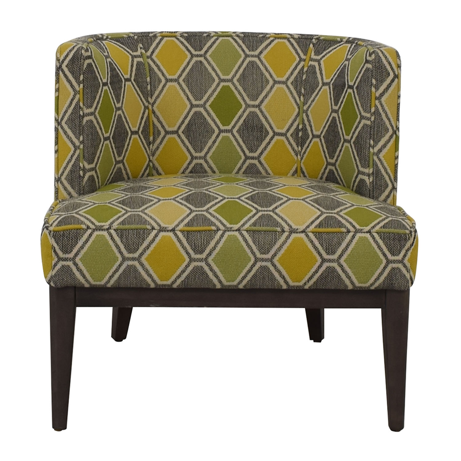 Crate & Barrel Crate & Barrel Grayson Multi-Colored Accent  Chair nj