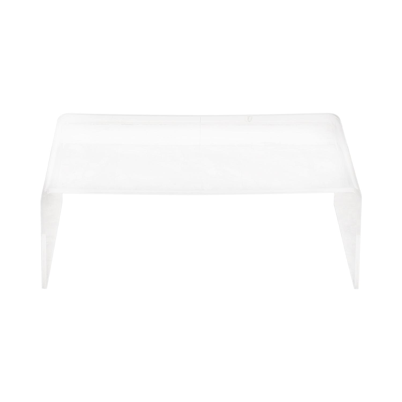 48% OFF - CB2 CB2 Peekaboo Acrylic Ghost Coffee Table \/ Tables