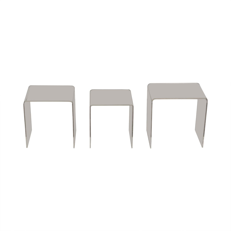 buy CB2 Peekaboo Acrylic Ghost Nesting Tables CB2 End Tables