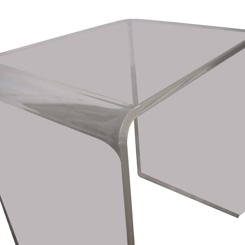 CB2 CB2 Peekaboo Acrylic Ghost Nesting Tables for sale