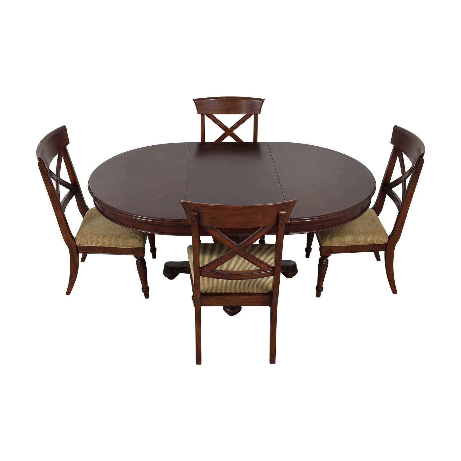 57% OFF - Macy's Macy's Pedestal Round Expandable Dining Set / Tables