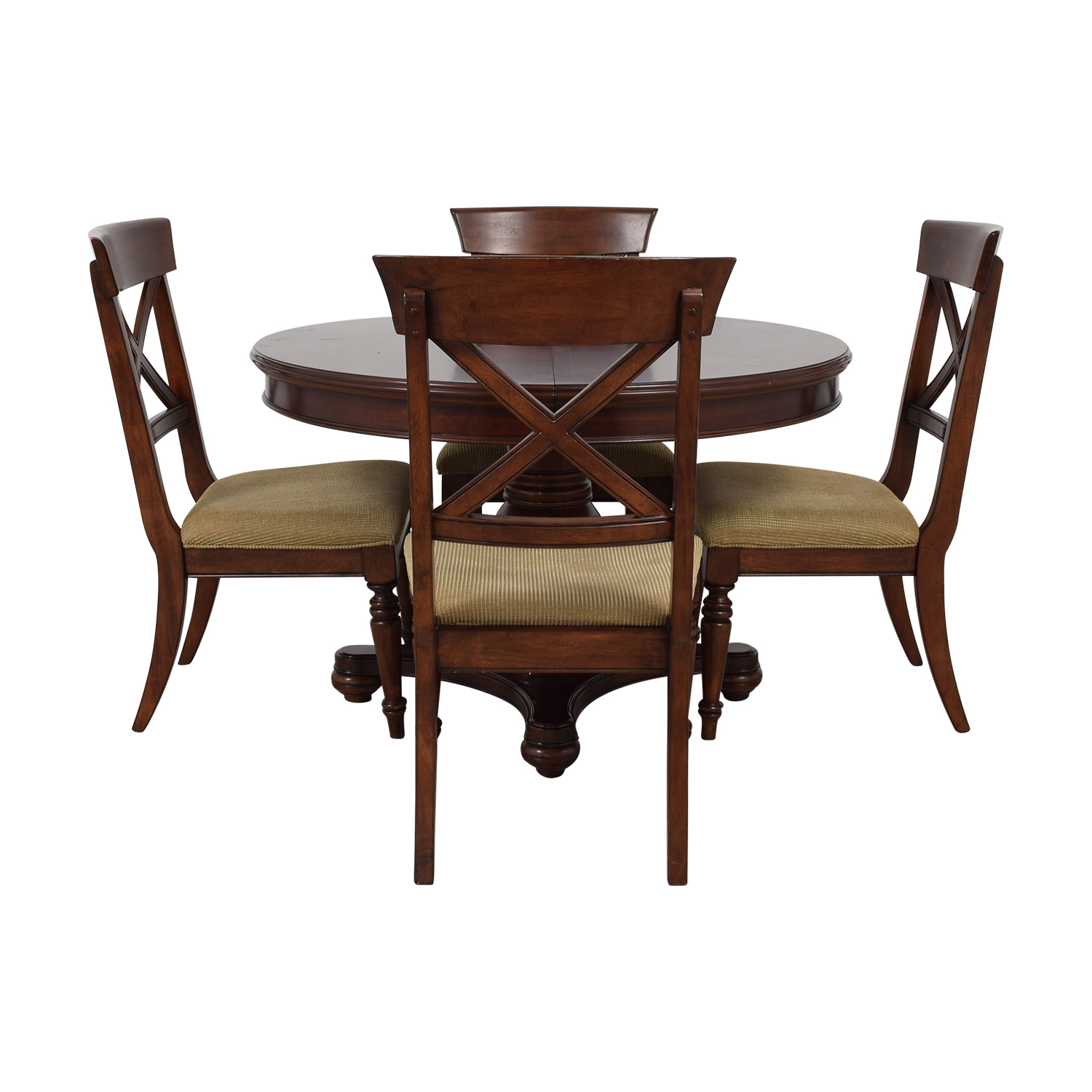 Macy's Macy's Pedestal Round Expandable Dining Set used