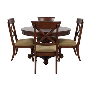 Macy's Macy's Pedestal Round Expandable Dining Set coupon
