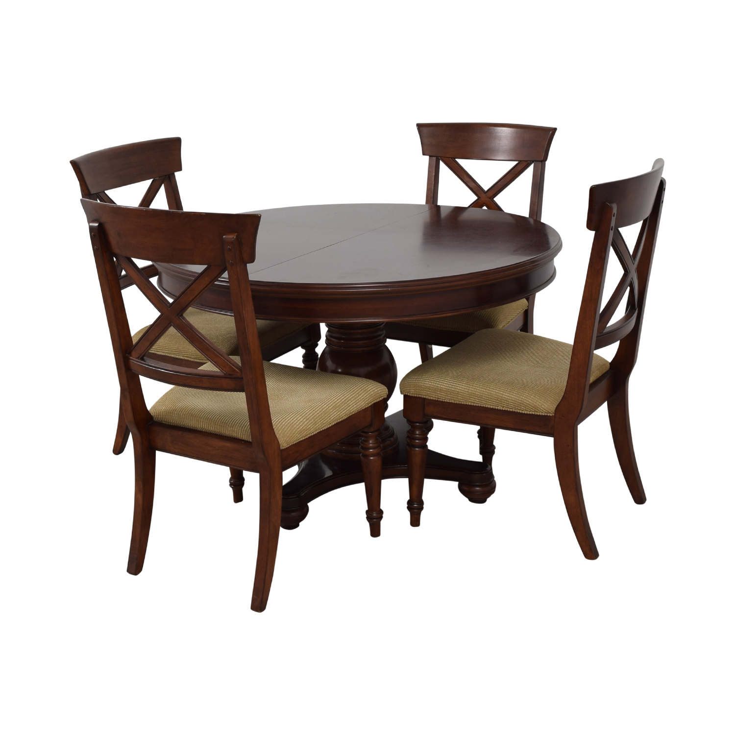 Macy's Pedestal Round Expandable Dining Set Macy's