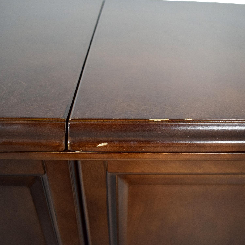 Wood Folding Leaf Bar brown