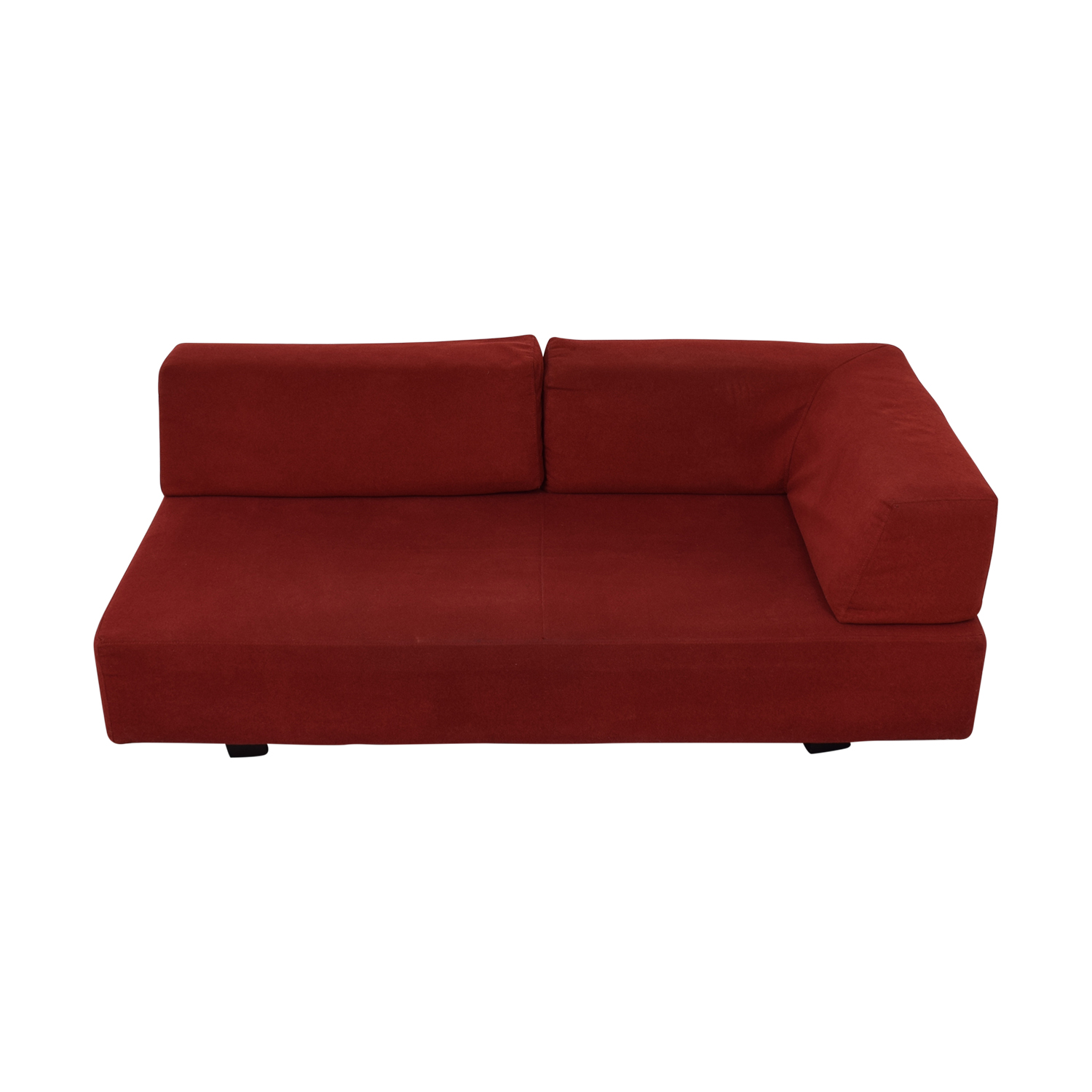 West Elm West Elm Red Chaise discount