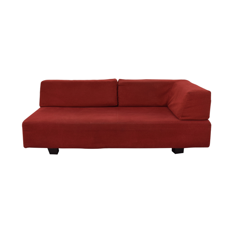 West Elm West Elm Red Chaise nyc