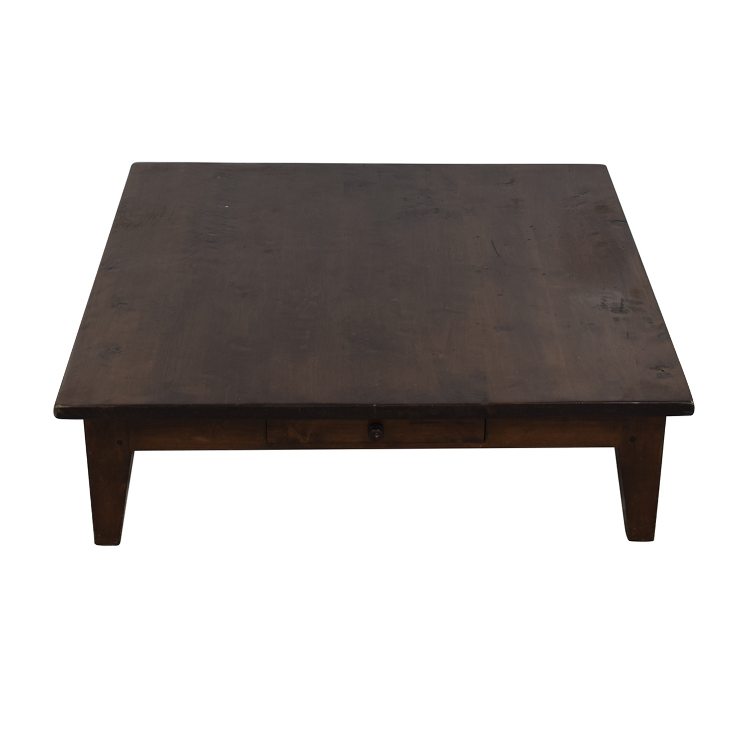 Vintage Single Drawer Low Profile Coffee Table Coffee Tables