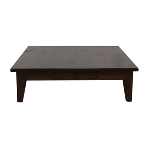 Vintage Single Drawer Low Profile Coffee Table second hand