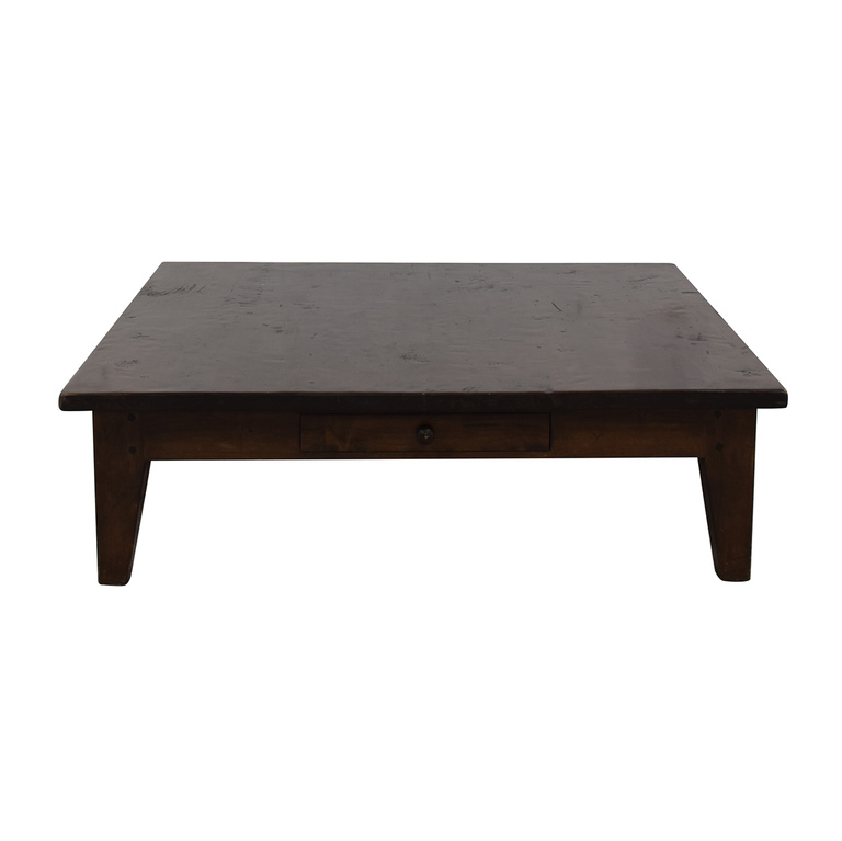 Vintage Single Drawer Low Profile Coffee Table on sale