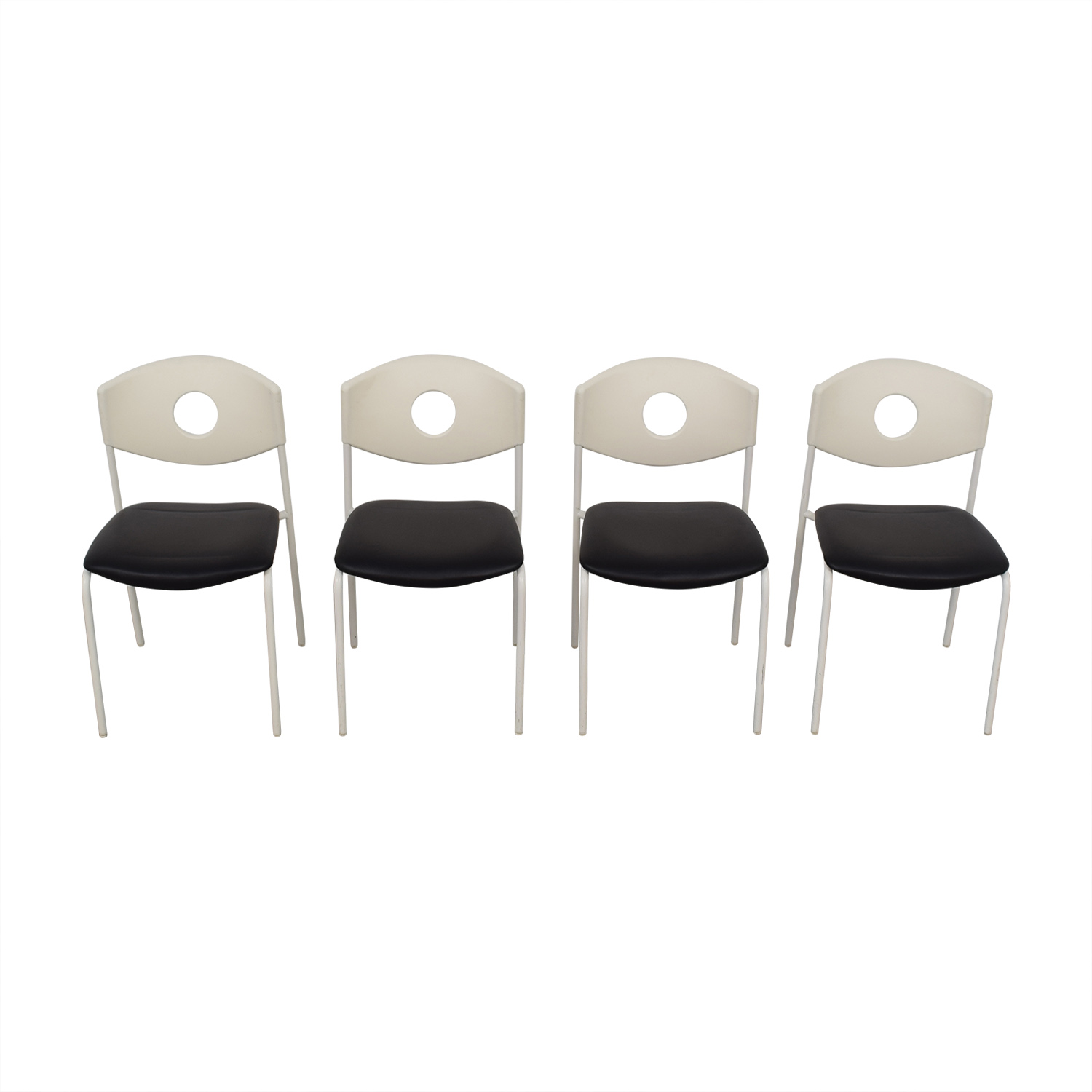 IKEA Stoljan Black and White Chairs / Dining Chairs