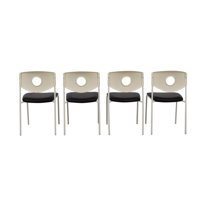 IKEA IKEA Stoljan Black and White Chairs white and black
