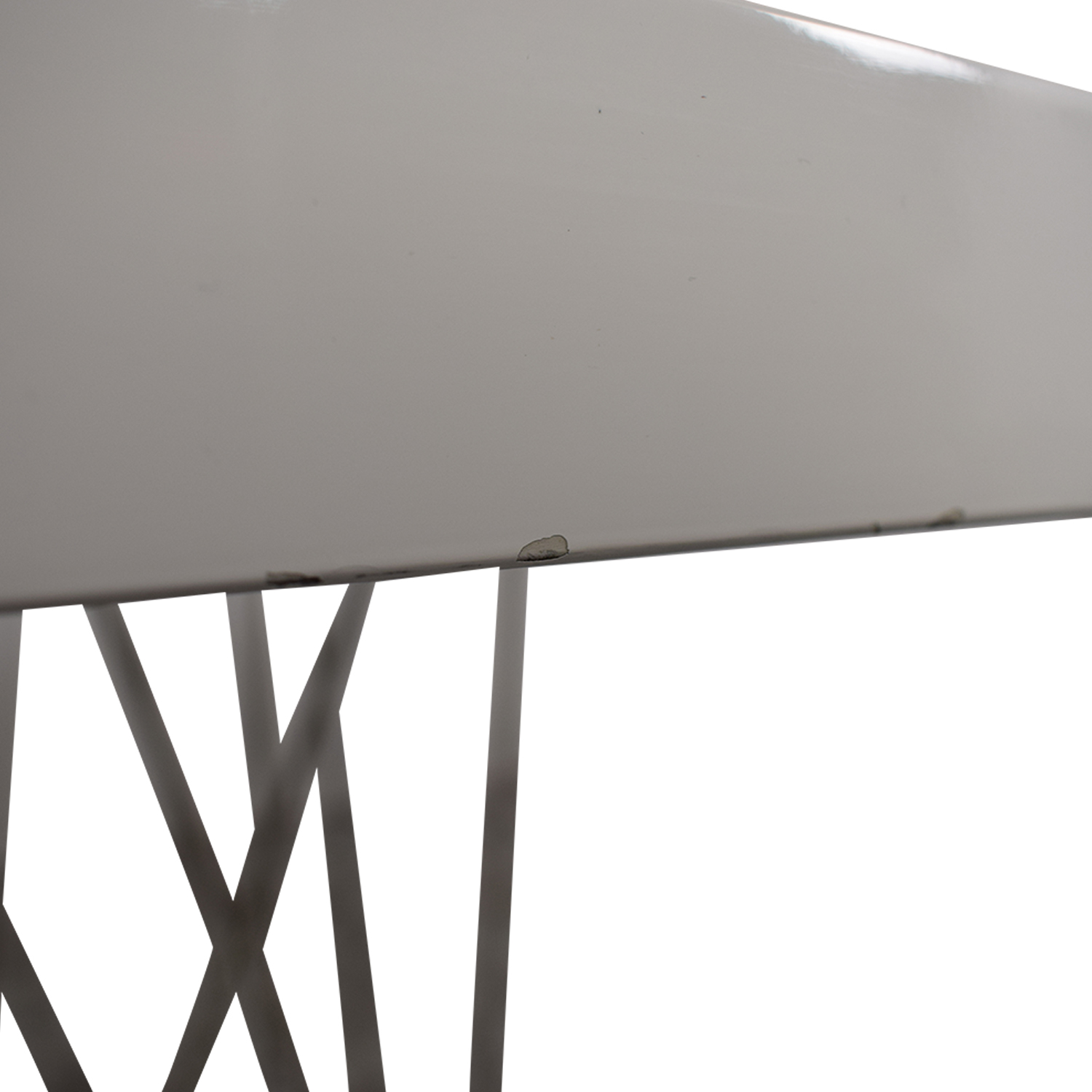 Modloft Modloft Clarges Glossy White Table nj