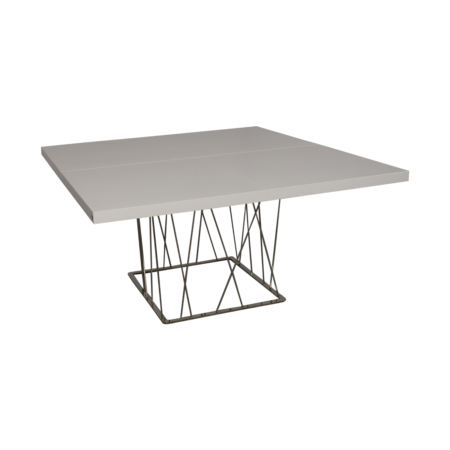 Modloft Modloft Clarges Glossy White Table Utility Tables