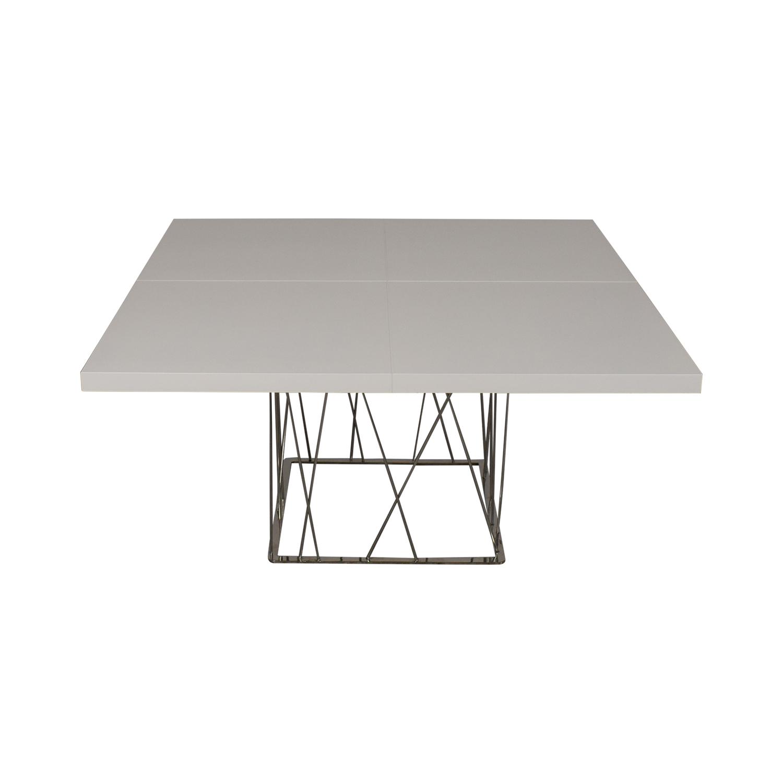 Modloft Modloft Clarges Glossy White Table Tables