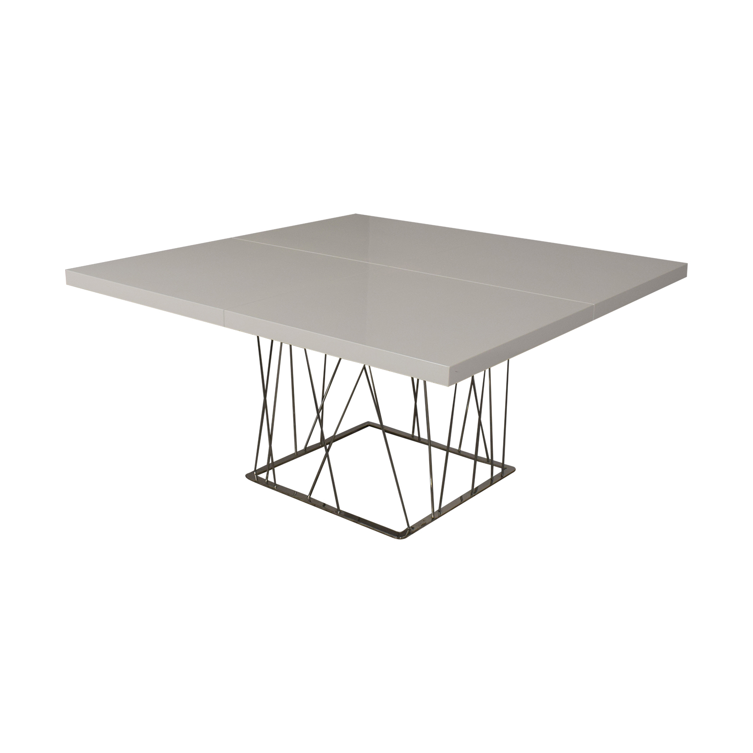 Modloft Modloft Clarges Glossy White Table for sale