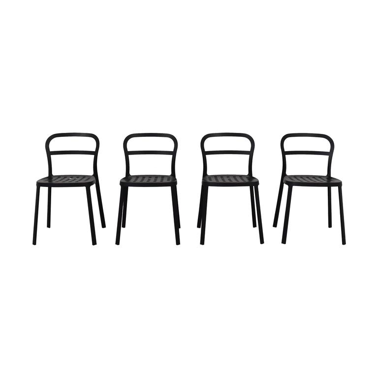 IKEA Black Metal Chairs IKEA