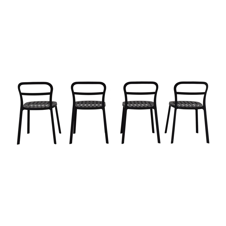 IKEA IKEA Black Metal Chairs for sale