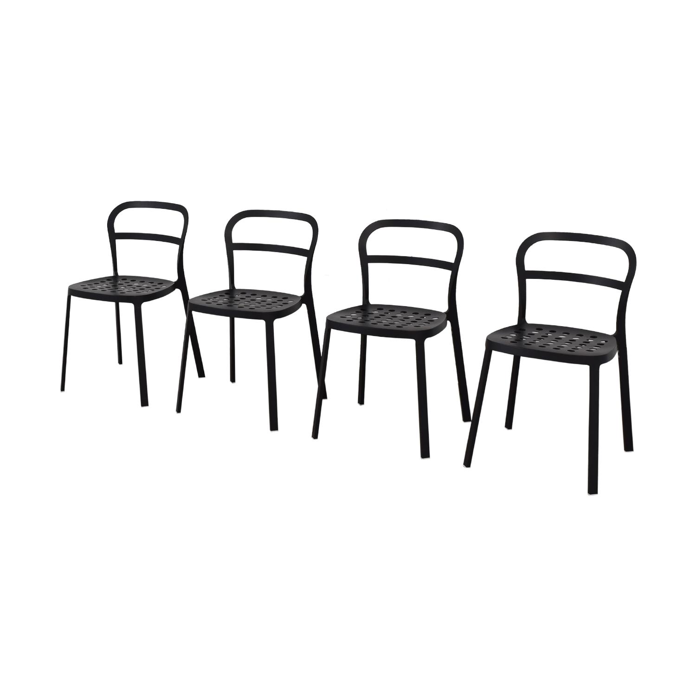 shop IKEA Black Metal Chairs IKEA