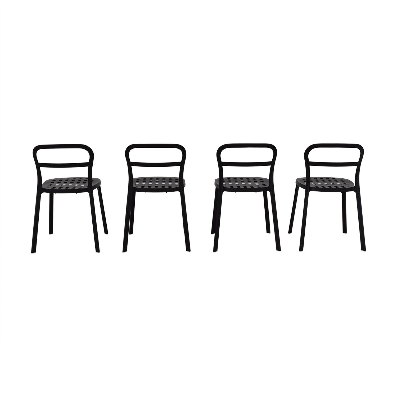 IKEA IKEA Black Metal Chairs nj