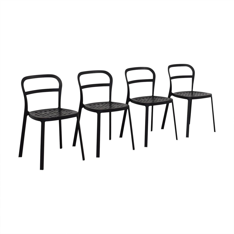 9% OFF - IKEA IKEA Black Metal Chairs / Chairs