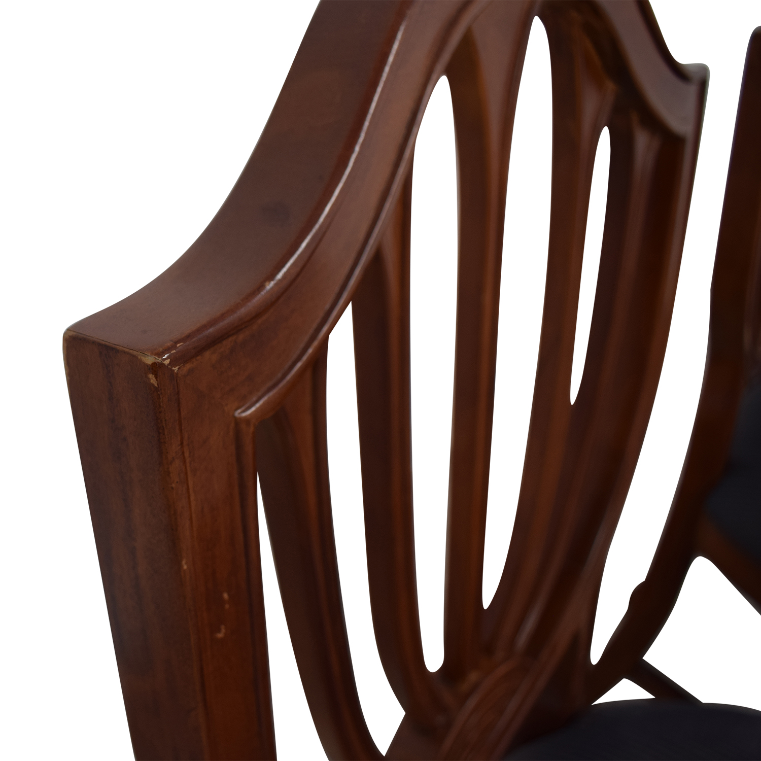 Blue Striped Upholstered Cherry Wood Accent Chairs on sale