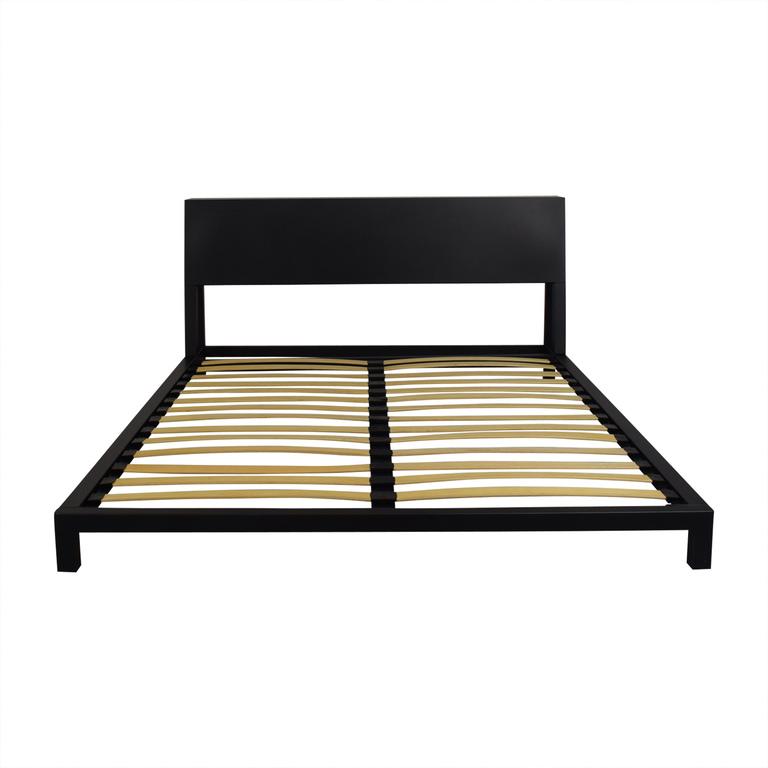 buy CB2 Alpine Gunmetal Queen Bed CB2 Beds