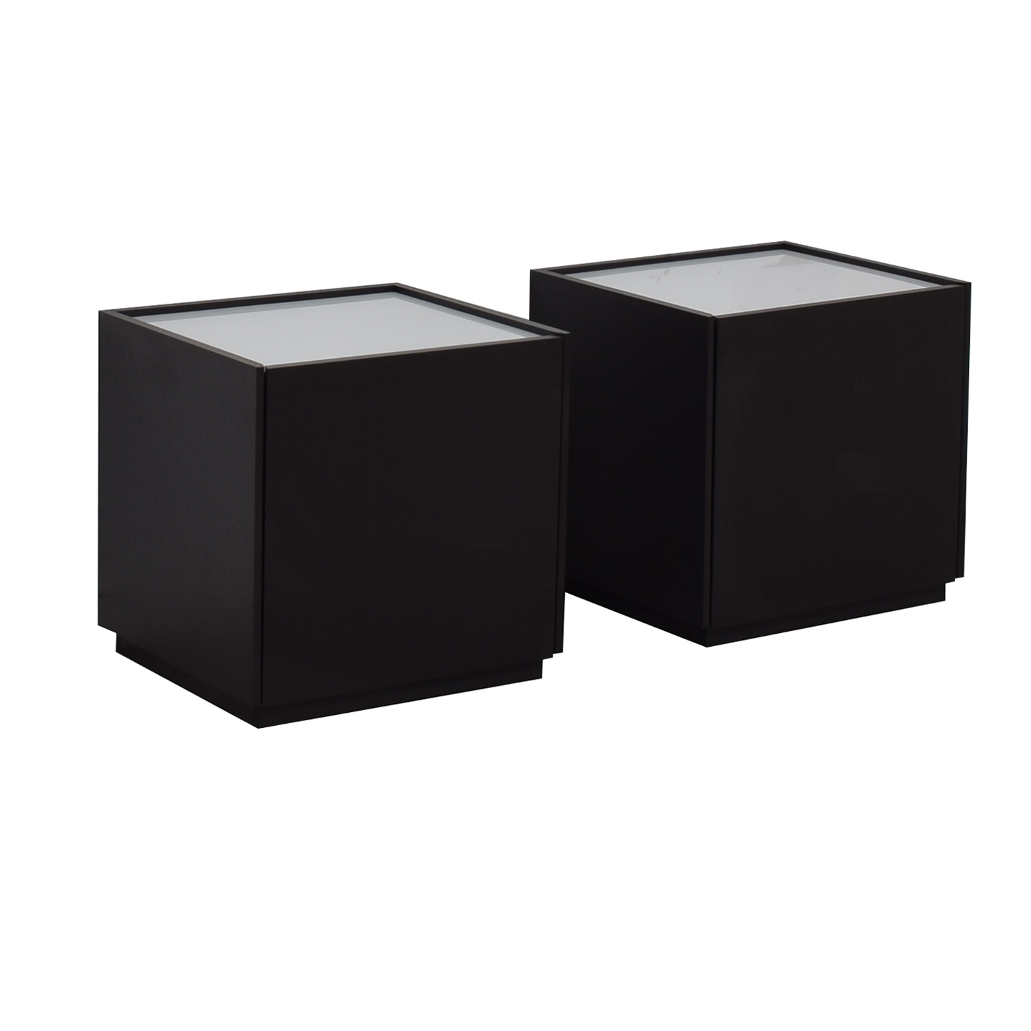 IKEA IKEA White and Black Two-Drawer End Tables End Tables