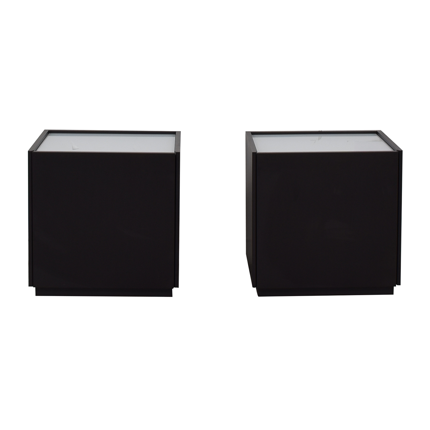 shop IKEA White and Black Two-Drawer End Tables IKEA End Tables