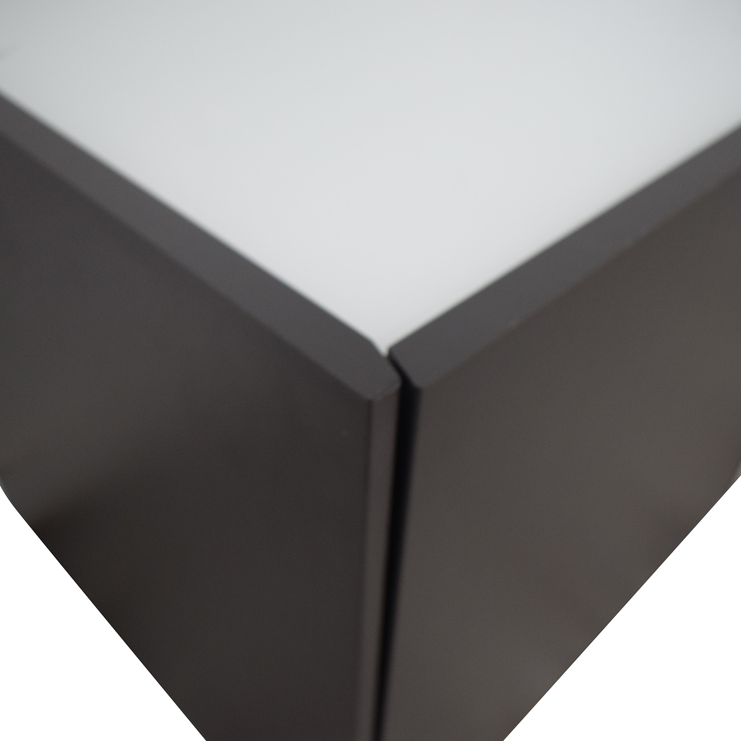 IKEA IKEA White and Black Two-Drawer End Tables nj
