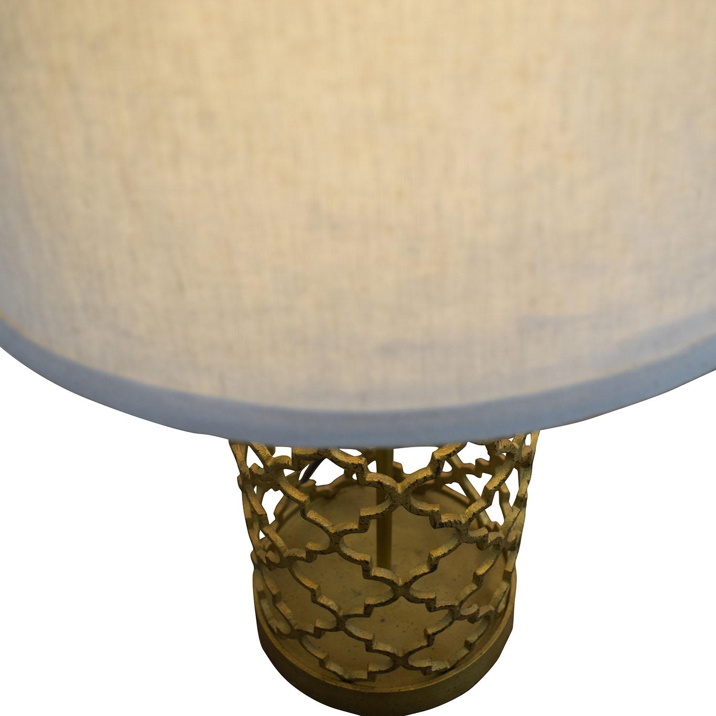 84% OFF   World Market World Market Gold Table Lamps / Decor