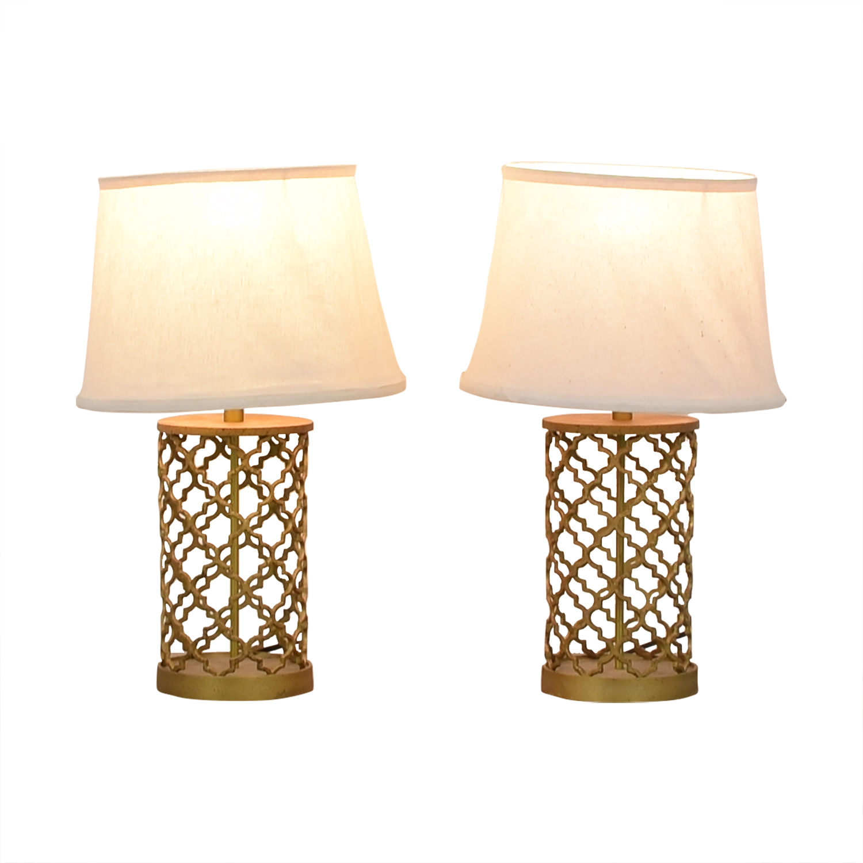 buy World Market Gold Table Lamps World Market Decor