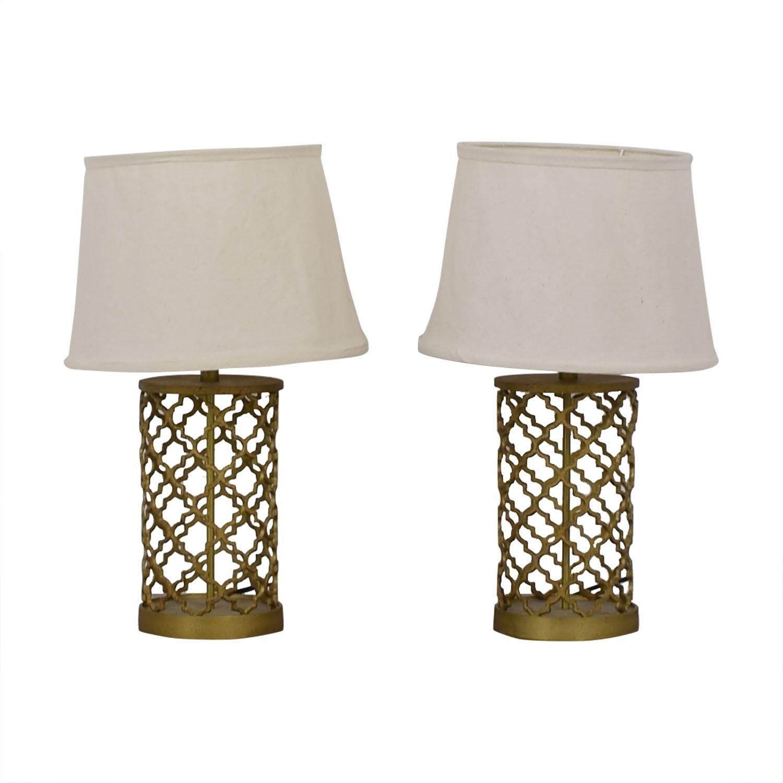 World Market Gold Table Lamps / Decor