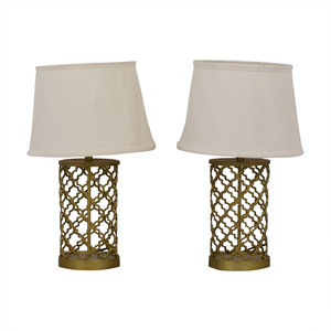 World Market Gold Table Lamps sale