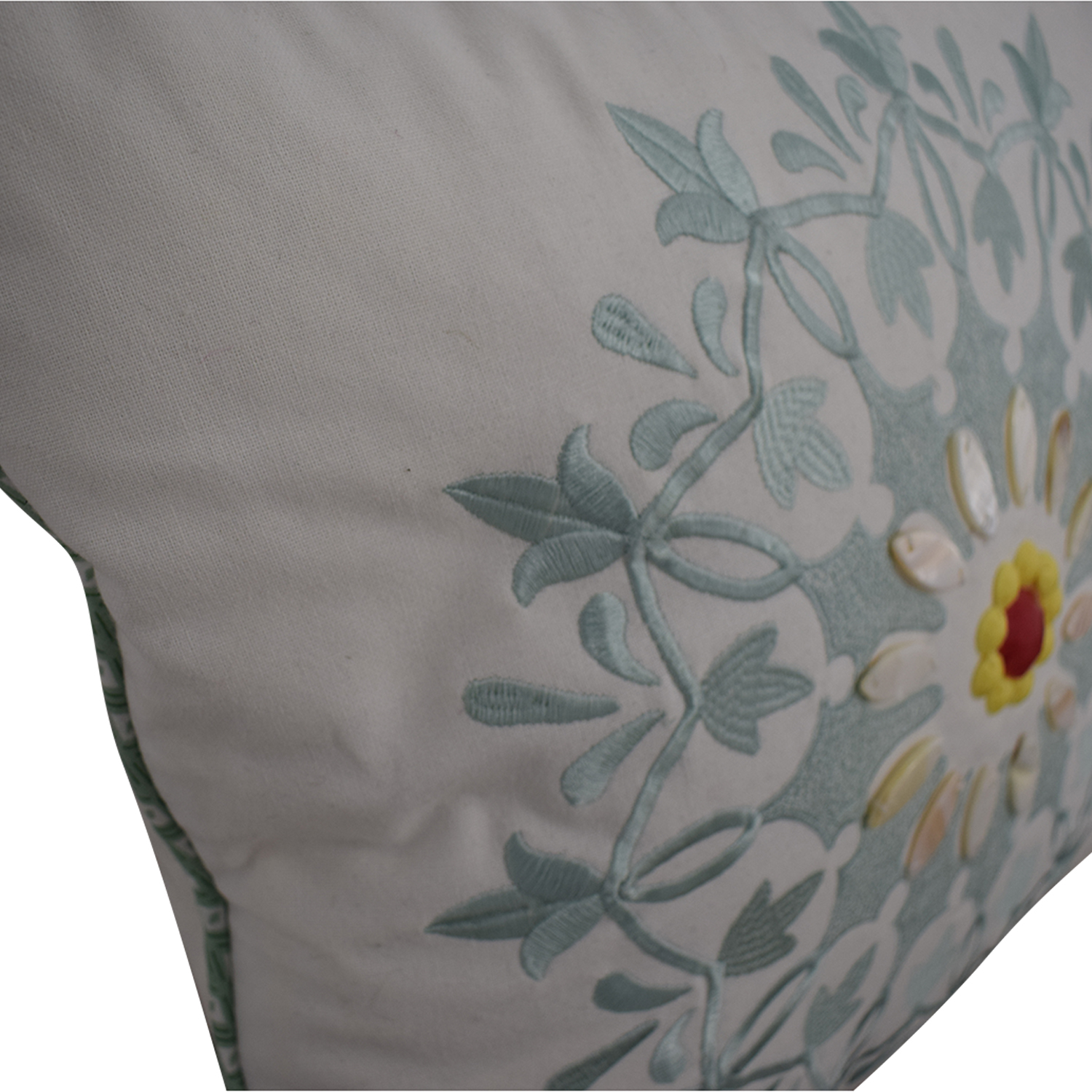 Macy's Macy's White and Blue Floral Accent Pillows dimensions