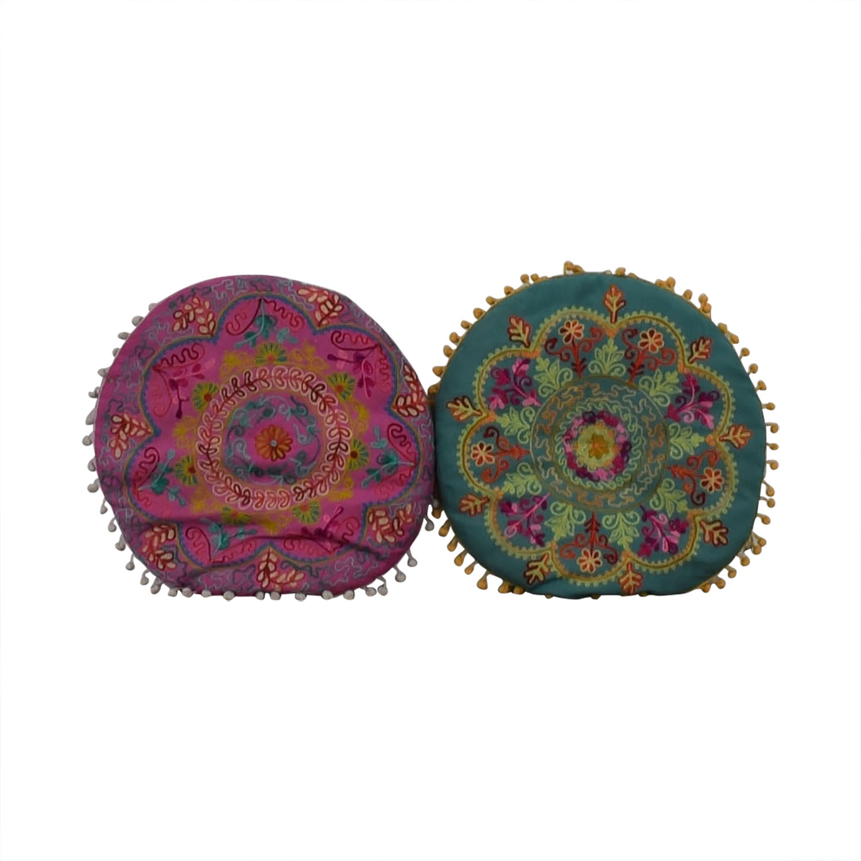 Wayfair Wayfair Multi-Colored Circular Toss Pillows Decorative Accents
